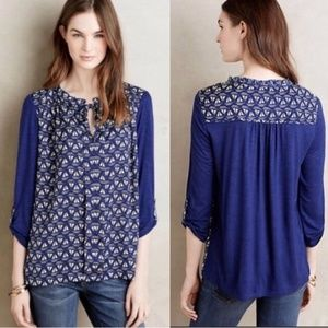 Anthropologie Meadow Rue Evella Sailboat Blouse